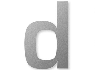 flat cut acrylic lettering