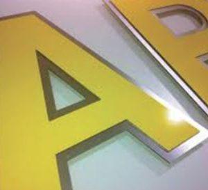 Flat Cut Aluminium & Mirror Composite