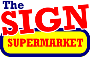 logo , sign supermarket